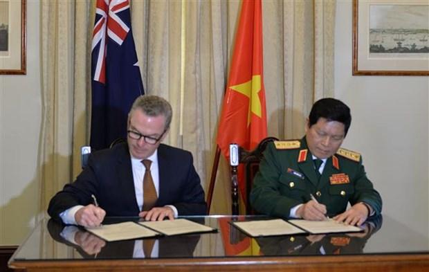 越南与澳大利亚签署《防务合作联合愿景声明》 hinh anh 1