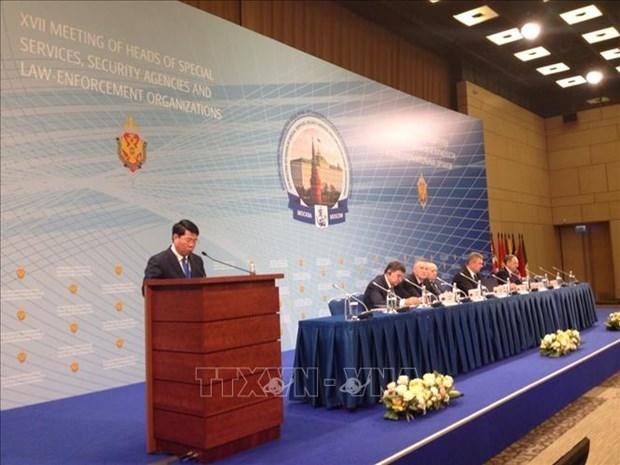 越南代表团出席第17次俄情报、安全及执法机构负责人会议 hinh anh 1