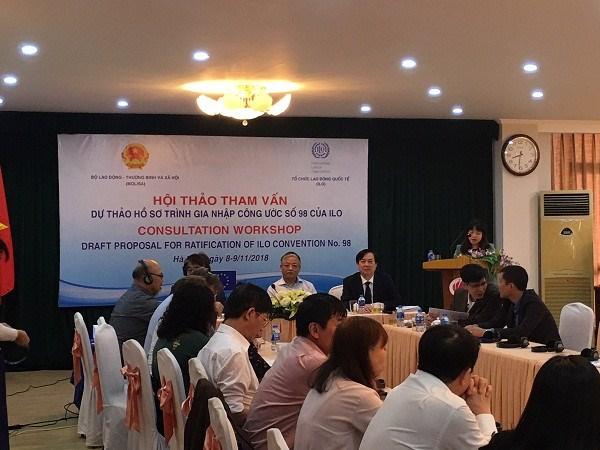 国际劳工组织第98号公约有助于建设和谐、稳定、进步的劳动关系 hinh anh 1