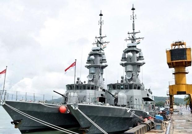 印度与新加坡举行大规模海上军事演习 hinh anh 1