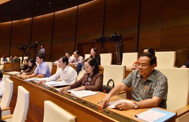 越南第十四届国会第六次会议:通过公共投资中期计划调整决议 hinh anh 1