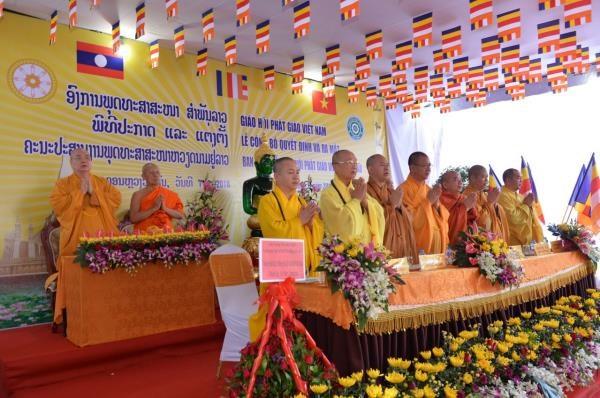老挝越南佛教教会协调委员会正式亮相 hinh anh 1