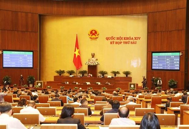 越南第十四届国会第六次会议进入第四周 将表决通过三个决议和一部法律 hinh anh 1
