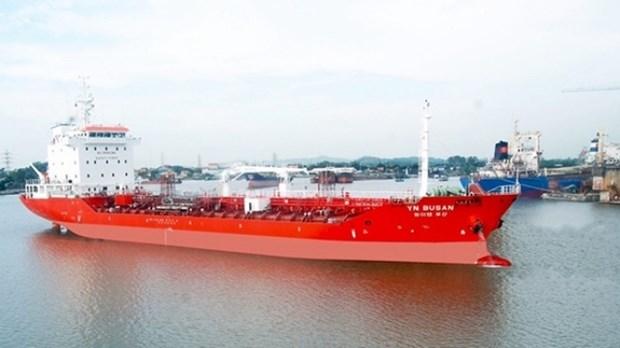 越南向韩国交付一艘 6500吨化学品油轮 hinh anh 1