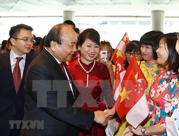 东盟峰会:政府总理阮春福出席越南产品周开幕式并剪彩 hinh anh 1