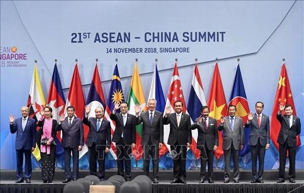东盟与中国继续加强互联互通推动经贸合作 hinh anh 1