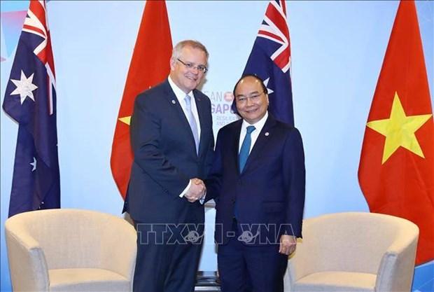 东盟峰会:越南政府总理阮春福会见澳大利亚总理莫里森 hinh anh 1