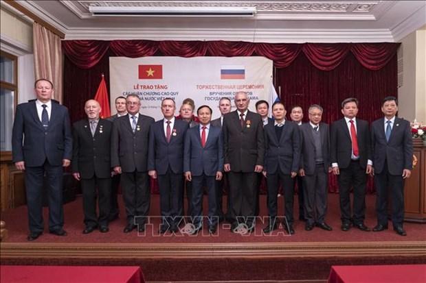 越南向俄罗斯联邦保卫局干部颁发友谊勋章 hinh anh 2