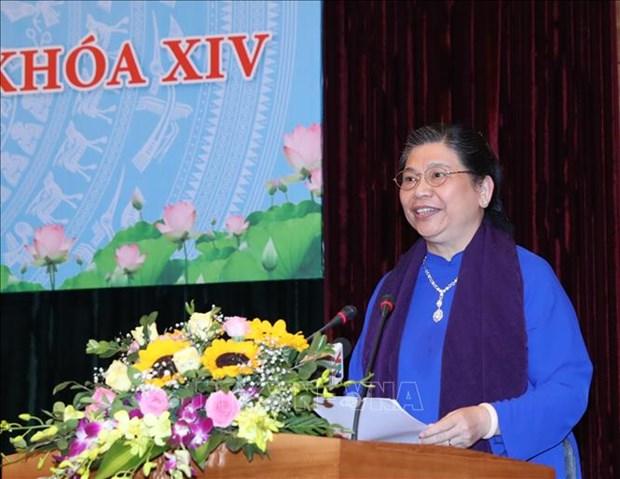 国会主席阮氏金银会见第十四届国会女代表 hinh anh 2
