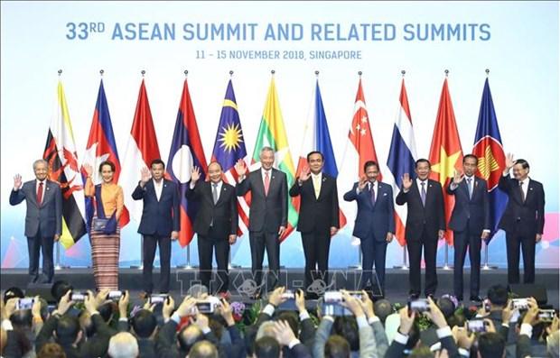 越南政府总理阮春福出席第33届东盟峰会全体会议 hinh anh 1