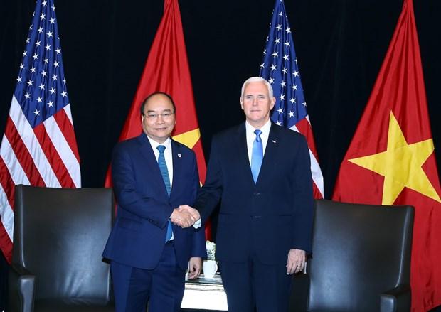 越南政府总理阮春福会见美国副总统彭斯 hinh anh 1