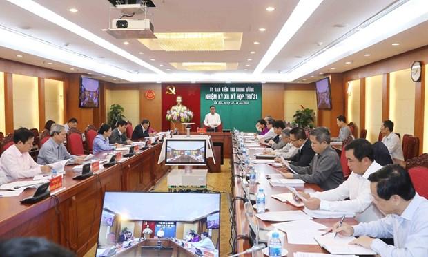 越共中央检查委员会对多名干部进行审议和给予纪律处分 hinh anh 1