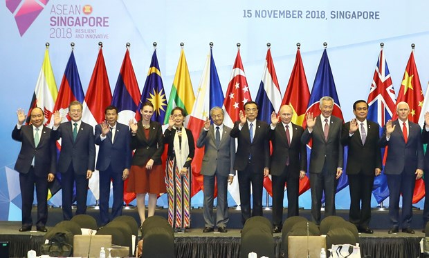 东盟峰会:政府总理阮春福出席第13届东亚峰会 hinh anh 1