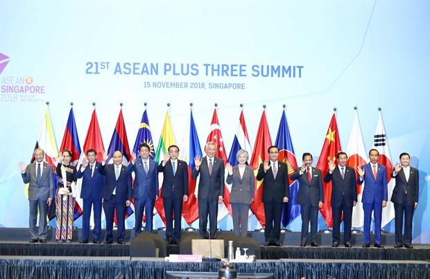 东盟峰会:政府总理阮春福出席第21次东盟与中日韩领导人会议 hinh anh 1