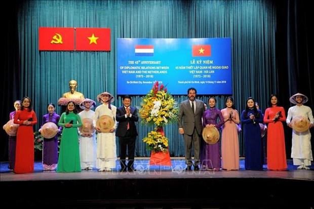 越南与荷兰建交45周年纪念典礼在胡志明市举行 hinh anh 1