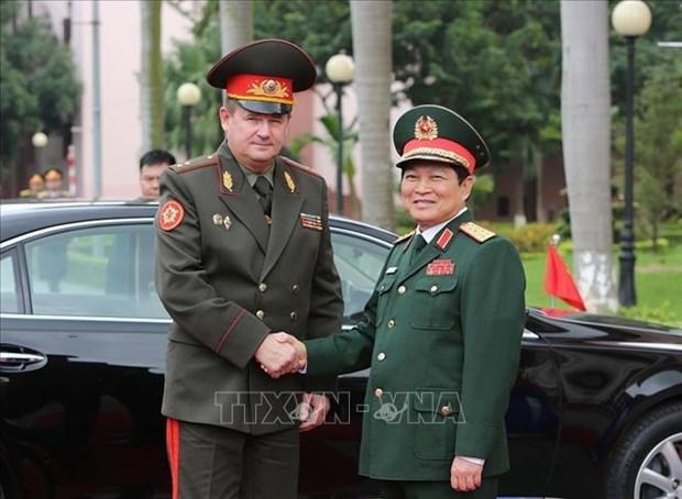 白俄罗斯国防部长开始对越南进行正式访问 hinh anh 1