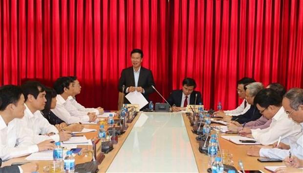 越共中央宣教部部长访问部分新闻媒体机构 hinh anh 2