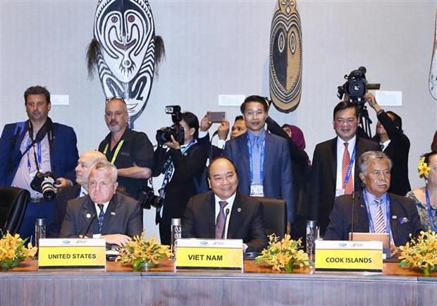 2018年APEC峰会:阮春福总理开始APEC峰会相关活动 hinh anh 2