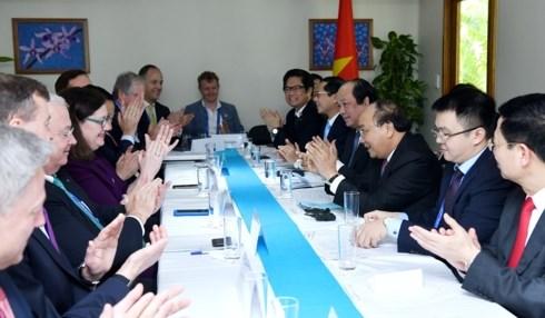 阮春福总理会见美国企业代表团 hinh anh 2