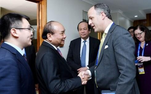 阮春福总理会见美国企业代表团 hinh anh 1