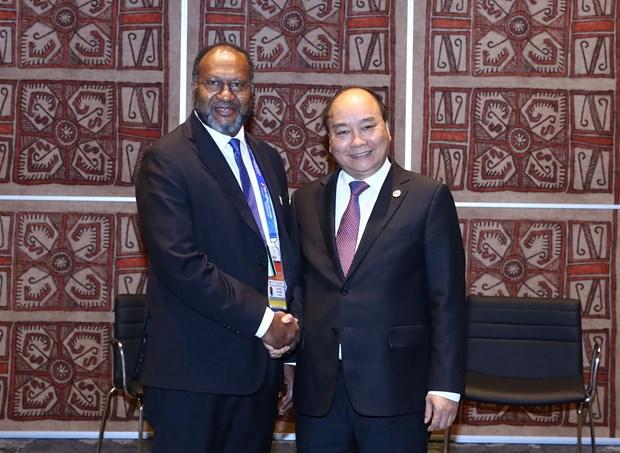 越南政府总理阮春福会见瓦努阿图总理夏洛特·萨尔维 hinh anh 1