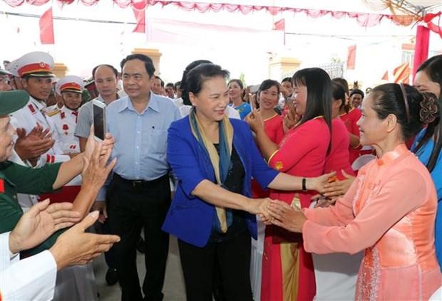 越南国会主席阮氏金银访问太平省 hinh anh 2