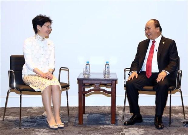 阮春福会见中国香港和新西兰领导人 hinh anh 2