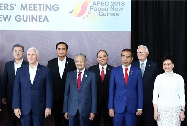 阮春福会见中国香港和新西兰领导人 hinh anh 1