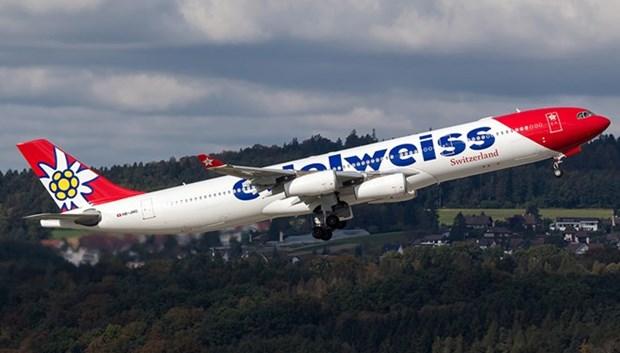 瑞士Edelweiss 航空公司开通苏黎世至胡志明市的直达航线 hinh anh 1