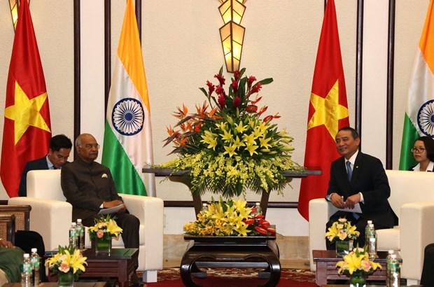 岘港市委书记张光义会见印度总统拉姆·纳特·考文德 hinh anh 1