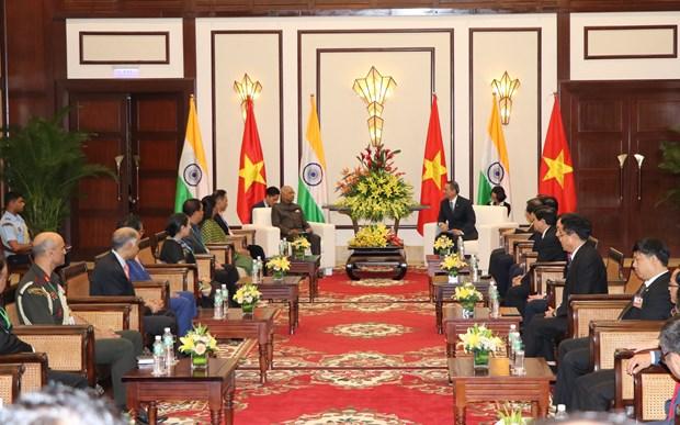 岘港市委书记张光义会见印度总统拉姆·纳特·考文德 hinh anh 2