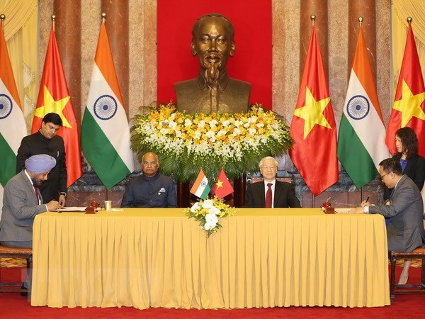 越南与印度发表联合声明 hinh anh 1