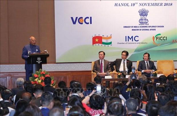 印度总统出席越印企业论坛 hinh anh 1
