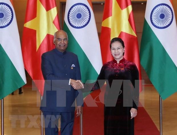 国会主席阮氏金银会见印度总统科温德 hinh anh 1
