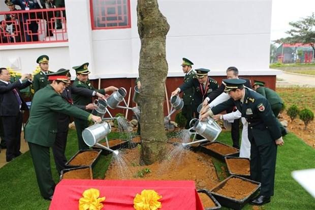 越中边境国防友好交流活动: 越中两军开展灾害救援联合演练活动 hinh anh 2