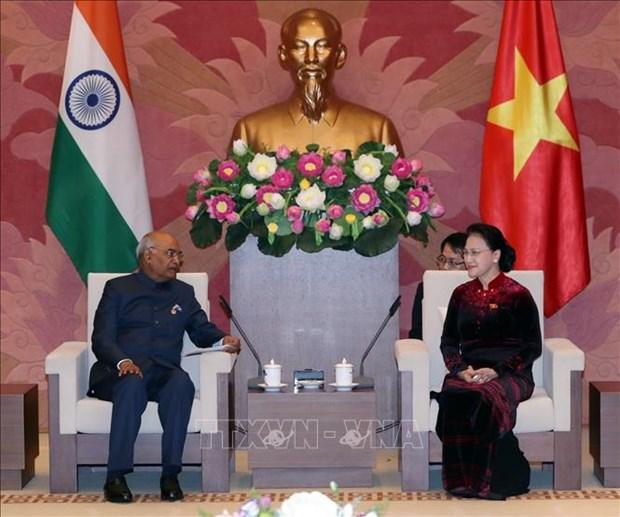 国会主席阮氏金银会见印度总统科温德 hinh anh 2
