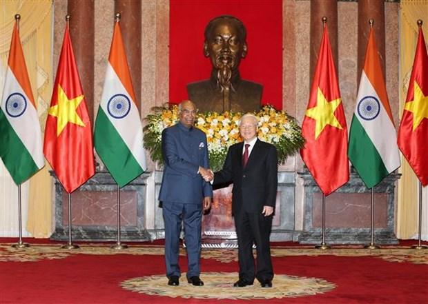 阮富仲与印度总统科温德举行会谈 hinh anh 2