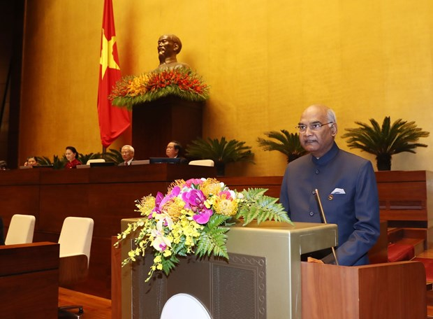 印度总统拉姆·纳特·考文德在越南国会发表重要演讲 hinh anh 1