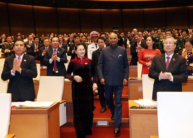 印度总统拉姆·纳特·考文德在越南国会发表重要演讲 hinh anh 2