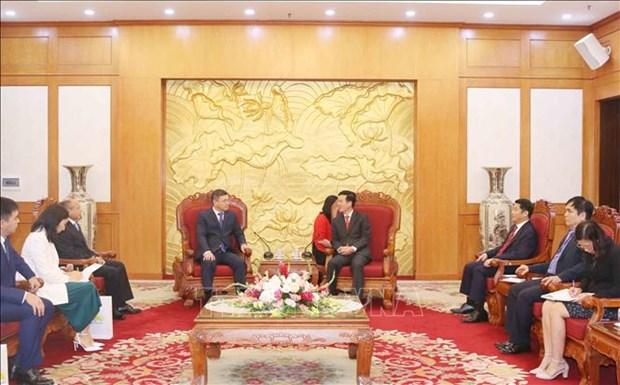 """哈萨克斯坦""""祖国之光党""""代表团对越南进行工作访问 hinh anh 1"""