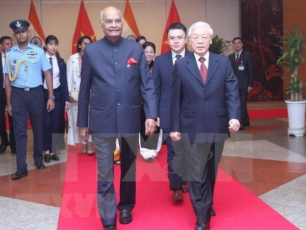 印度总统拉姆·纳特·科温德圆满结束对越的国事访问 hinh anh 1