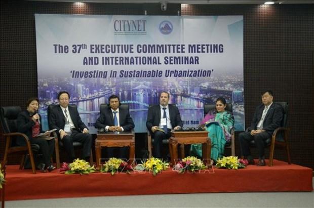 岘港市会同亚太人居管理地方政府网络联合举办国际研讨会 分享可持续城市化的投资经验 hinh anh 2