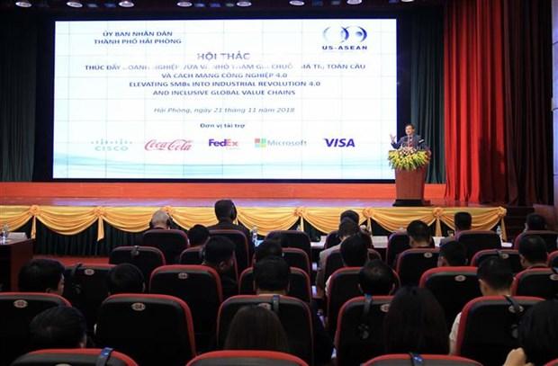 美国协助越南中小企业参与全球价值链 hinh anh 1