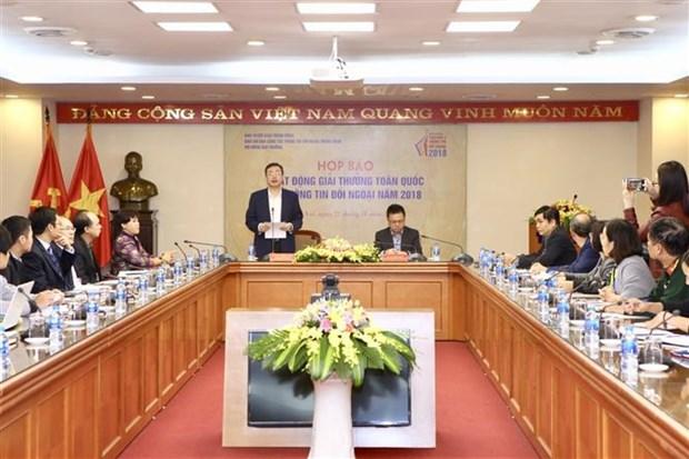 2018年越南对外新闻奖新闻发布会在河内举行 hinh anh 1