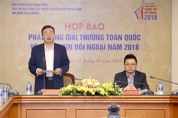 2018年越南对外新闻奖新闻发布会在河内举行 hinh anh 2