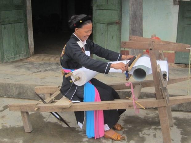 北江省溪俄村高兰族的传统纺织业 hinh anh 2