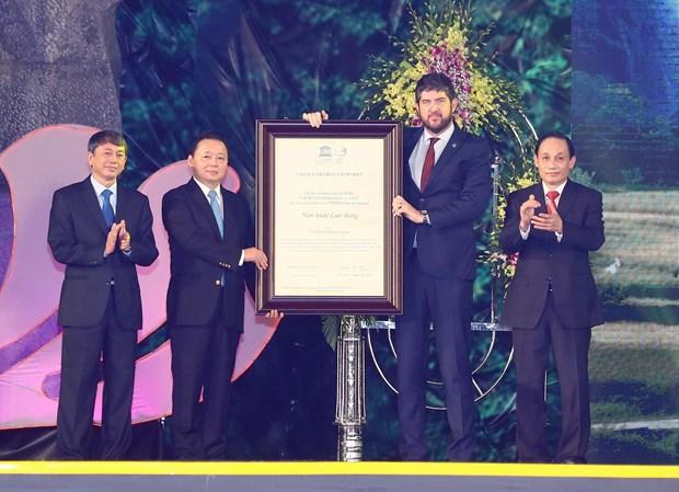 高平省荣获UNESCO世界地质公园称号 hinh anh 1