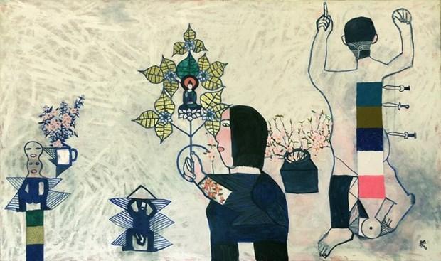越南—匈牙利当代画展在河内举行 hinh anh 2