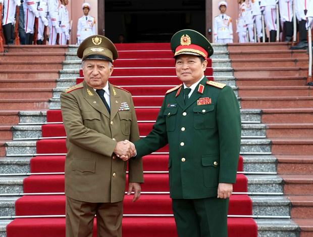 古巴革命武装力量部部长对越南进行工作访问 hinh anh 1