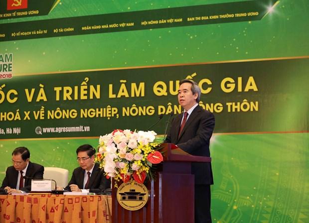 """越共 """"三农""""决议实施10周年全国总结视频会议在河内开幕 hinh anh 2"""